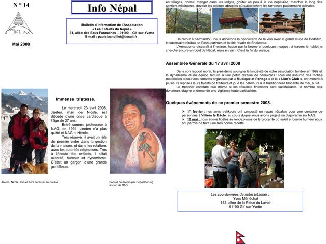 Info NéŽpal N°14